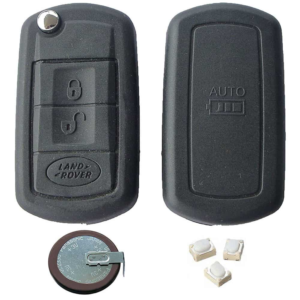 Land Rover Range Rover DIY Repair Kit - 3 Button Replacement Remote Car Key  Fob Casing with Blade VL2330 Battery and Micro Switches