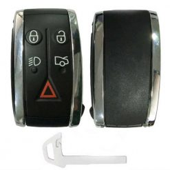 Jaguar 5 button remote key fob casing with uncut blade