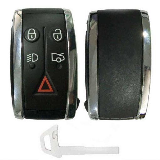 Jaguar 5 button remote key fob casing with uncut blade